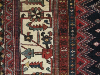 Antique Bakhtiar Gallery carpet( unknown clan) ,mid to third quarter of 19th century, natural vegetable dyes, symmetrical knots, in excellent condition for it's age. size; 345x190 cm
