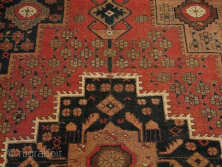 Persian Antique Afshar, wool pile and base, circa 1900, low pile, restored,nice piece, size: 190x130 cm  It can be shipped to anywhere in the world (shipping & insurance costs will be quoted  ...