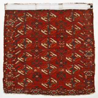 """Tekke small dowry carpet, often called """"wedding"""" rug, 2.6 X 2.8 feet,(76 X 81 cm)  p. 169, fig. 188 in 'Atlantic Collections..."""" Glossy thick pile with no restoration. Outstanding color of  ..."""