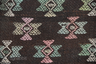 "Rain cloak, ""charlab"", wool with supplementary weft brocade, 61"" x 27""; Bhutan (2354)"