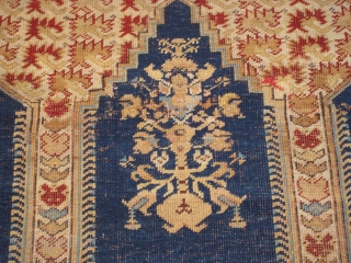 "Late 18th Century Koulah Prayer Rug, 6' 2"" x 4' 3"".  Contact for full condition report or additional images."