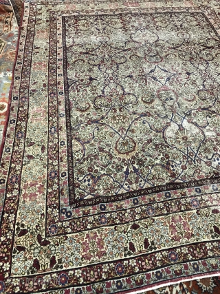 Antique Persian Kerman Lavar  with signature