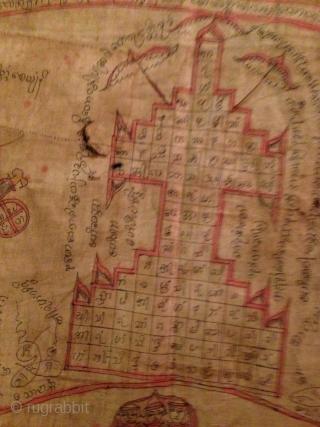 burma, flag / map . cm.133 x 79.