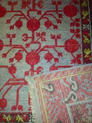 khotan, good conditions, m.3.94 x m. 2,11 sold
