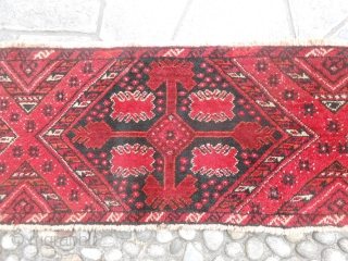 109 x 38 cm Antique Ersari Bashir tribe It's a band-tend-panel. In very good condition. All wool.  More pictures or info on request. All the best  from COMO ! MML