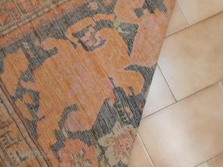 225 x 160  cm. Anntique Karabagh Caucasus carpet, gol-farangh pattern. In excellent condition.  Naturql dyes. Antico Caucaso Karabagh dall'impianto Gol-Farangh (fiore straniero). Il pezzo è in eccelse condizioni. Tutto a colori naturali. Misure cm. 225  ...