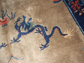 China-CATAI antique carpet (first quarter of XX century) dragon patter. Very good condition. Size cm. 233 by 160 cm. Brilliant wool. No holes, no stains, no repils.