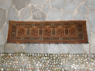 A lot of antique AFGHAN TURKMEN at torba. Pieces in very good condition. Carpets knotted by tribes  ERSARI, CHODOR, BASHIR, TEKKE. Ask for othe info about each piece and for other photos and sizes. All  ...