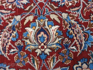 cm. 220 x 145 is the size of this important piece knotted in PERSIA.