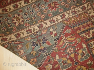 This antique carpet was exported from Iran