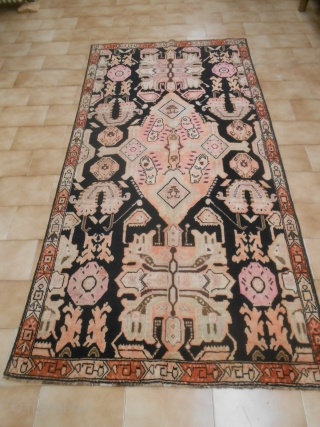 Measures:   244 x 122 cm Antique Caucasus KARABAKH in very good condition. Original palette. Beautiful fastened color. Beautiful size. for this antique piece, knotted end XIX th.century.  Other info or photos on  ...