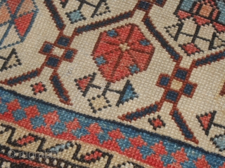 150 x 115 cm. CAUCASUS antique carpet khotted in the district of SHIRVAN. GOOD the 