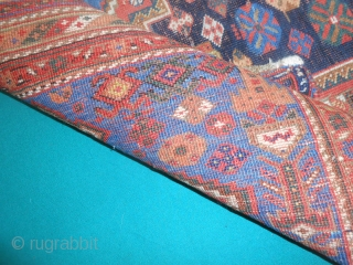 Antique Persian AFSHAR village of Share-Babak. Extra fine knot for this nomadic piece. All great colors.  SIZE  cm.177 x 144  cm. Good condition for the age (end XIXth. C.) Washed and read for  ...