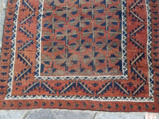 Antique BELOUCH in good condition. This piece is not in full pile but It's all original.  Size ft. 4.52 x 3.05 ft. = cm. 138 x 93 cm. End of XIX° th. century for  ...