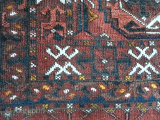 TORBA TURKMEN-Afghan SALOR tribe. It's in very good condition. 135 x 103 cm = ft. 4.43 by ft. 3.37. Great color and a very beautiful palette for this Torba; a lot of natural dyes  ...