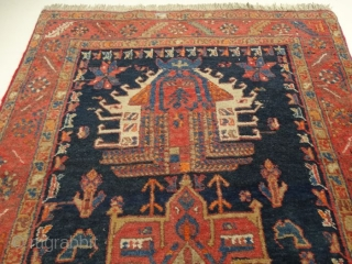 2 9 2  x  9 1  cm. is the size of this antique Karadjeh. Very good colours and very good condition. The carpet has been washed. Original pattern. Persian Azerbaijan  ...