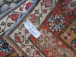 153 x 87 cm. Antique Karabagh from Caucasus. Very good condition. Wool on wool.