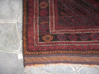 282 x 190 cm is the size of this Belouch Mushwani tribe.