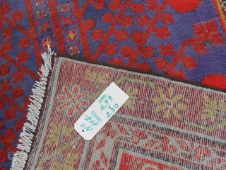 East Turkestan - Xinjiang - Oasi of YARKAND. Antique Samarkand design POMEGRANADES. Size m. 4.99 x 2.30 Good condition, all original. Fastened color. Other info and photos on request. *********** This piece has been sold in COMO! Grazie! VENDUTO  ...