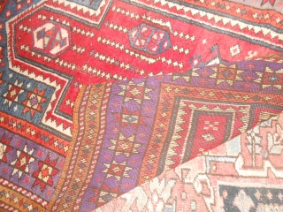 144 x 107  cm. is the exact size of this old ANATOLIAN carpet.