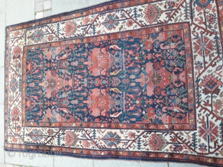 0003 Unusual Bakhtiari rug with Zili Sultan design.. Last quarter of 19th century..Wool on cotton with charming natural colours..In very good condition and not washed..Size 205x130 cm(6.7x4.2 feet)