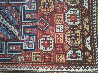 0006  Quchan Kurdish Tribal Rug from 19th century NW Persia...Naturel colours with a charming design. In good condition.. Size 120x226 cm (3.9x7.4 feet)