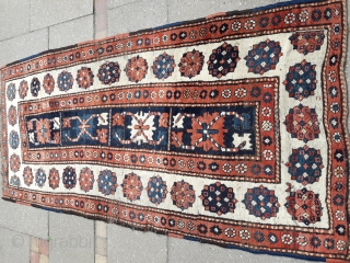 0007 Real tribal Talish rug from Coucasus..Circa 1880 naturel colours with tribal weaving from primitive looms.. Size 100x220cm(3.2 x 7.2 feet)
