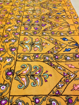 uzbek old silk embroidery on wool fabric suzani ethnic tribal decorative suzani