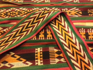 Handmade silk ethnic home band fabric textiles Uzbek vintage fabric