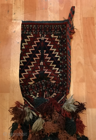 Vintage handmade Turkmen kilim arrowhead 