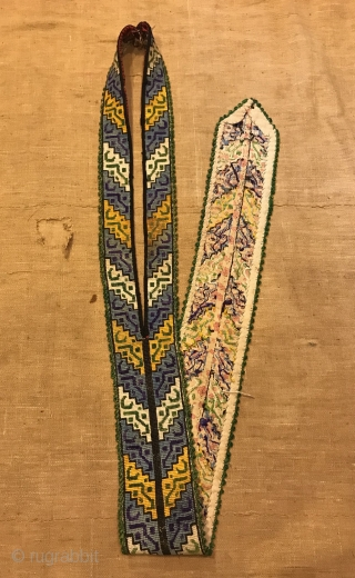 Uzbek vintage embroidered tie accessories  Ethnic tribal textiles   Size : 112 cm x 8 cm  Fast shipping worldwide   Thank you visiting for my shop :)
