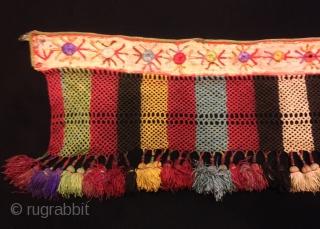 Vintage Uzbek silk tassel  Size : 70 cm x 20 cm  Fast shipping worldwide