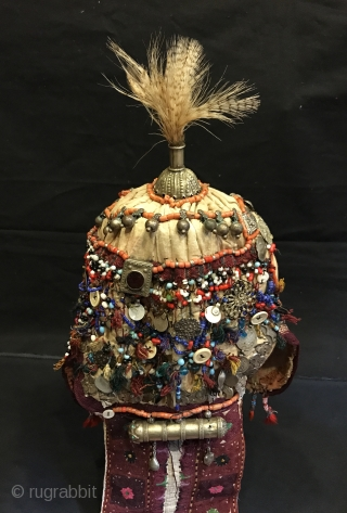 That old Kirghiz ethnic tribal collectible hat