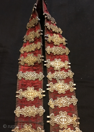 Antique khazak silver belt 