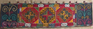 "Lakai silk embroidery panel. Size: 164 cm x height: 47 cm (64.5"" x 18.5"")."