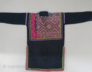 Antique Caucasus Georgian ethnic ceremonial shirt - dress. It has amazing fine cross stitch embroidery on hand loomed goat hair. Circa 1900-20s. It is good condition overall, with a few minor worn  ...