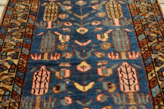 Persian Heriz Runner - great size - 2'11 x 9'3 - 89 x 282 cm. as found - inexpensive!