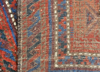 Antique Baluch rug, Great colors and Good age - circa 1850-60 - 2'4 x 3'11 - 71 x 119 cm.