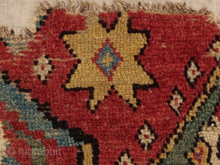 Early, archaic, Manastir prayer rug fragment, 1.00 X 1.27 m. Click on this link for price + more images and information: http://gallery-arabesque.com/item/400017196