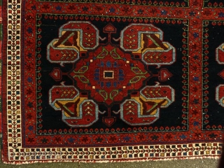 Old Afshar rug, 1.31 X 1.51 m. More images at: http//gallery-arabesque.com