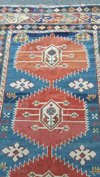 a Fine mid 19th century karagashli of unusual rug size 180 x 115,