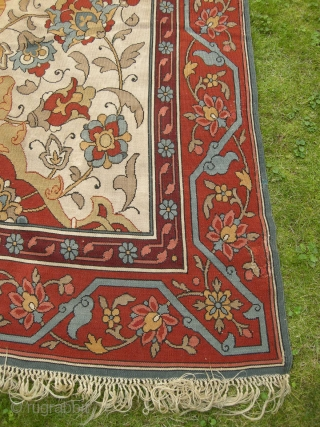 An antique Slavic Kilim, very well made with a stunning design. This beautiful flatweave seems to be a generation earlier than others of it's type with rich colours and strong design. Some  ...