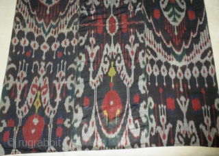 """This is a beautiful old 19th. century Tajik     Ikat panel, measuring 45"""" wide by 76"""" long.    The ikat panel is  ..."""