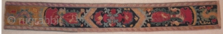 "Here is a wonderful old Uzbek embroidered belt measuring 32"" long by 4 1/4"" wide (81.28 cm x 10.80 cm). The belt is in very good condition with the exception that there  ..."