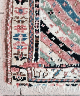 December Sale :  A 'soft and nice color' Shahsevan Pile mat , 19th. Size : 84x81cm