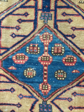 Beautiful Shahsevan pile Rug, Circa 19th Century from NW Persia,  Some times so called Sarab or Bakhshayish but this is a nomadic carpet around Sarab district woven by Shahsevans. Good dyes ! nice  ...
