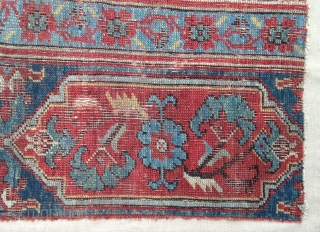 Very elegant Ushak ( called izmir also ! )  fragment ! circa 18th century .