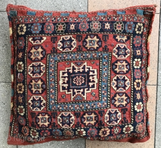 Lovely Shahsevan bag in great condition , beautiful and fresh colors ! variant details on , 19Th century . size : 56x57cm