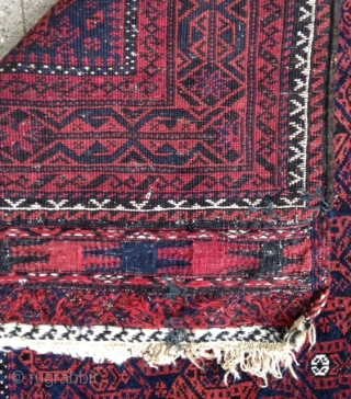A very charming Baluch Rug with a nice pile and wool.  Size : 149x92 , Price : 500 euro + Shipping !  Please don't ask me more photos ! Thanks.
