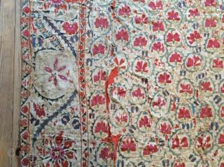 Embroidered Uzbek 1850, 2.37x1.70     SOLD SOLD SOLD